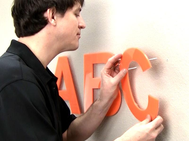 How To Install Plastic Letters Stud Mount Custom Plastic