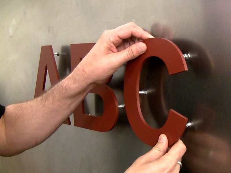 Metal Letters For Wall how to mount sign letters on a metal wall - create a metal sign | diy