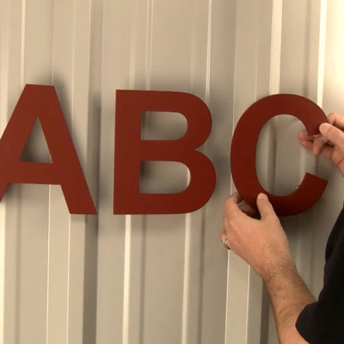 How To Mount Sign Letters On Corrugated