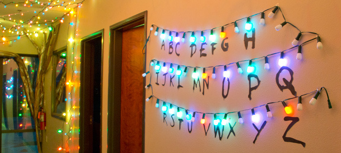 Stranger Things Christmas Lights.How To Make A Stranger Things Alphabet Sign With Lights Code