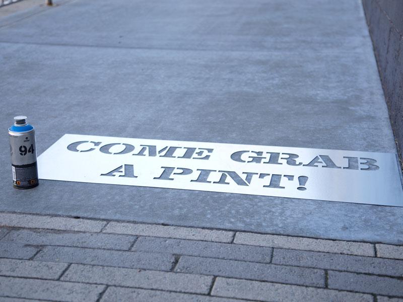 How To Paint Metal Stencils Chalk Sidewalk Letters