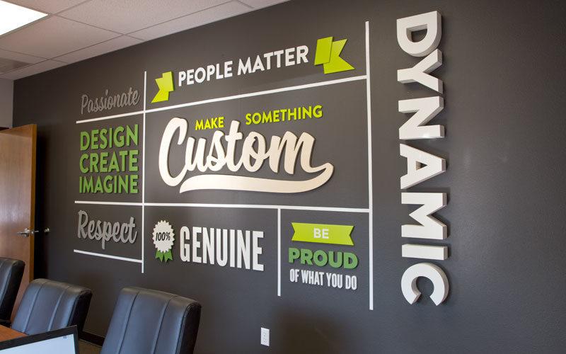 Company Values Wall Sign Woodland Articles