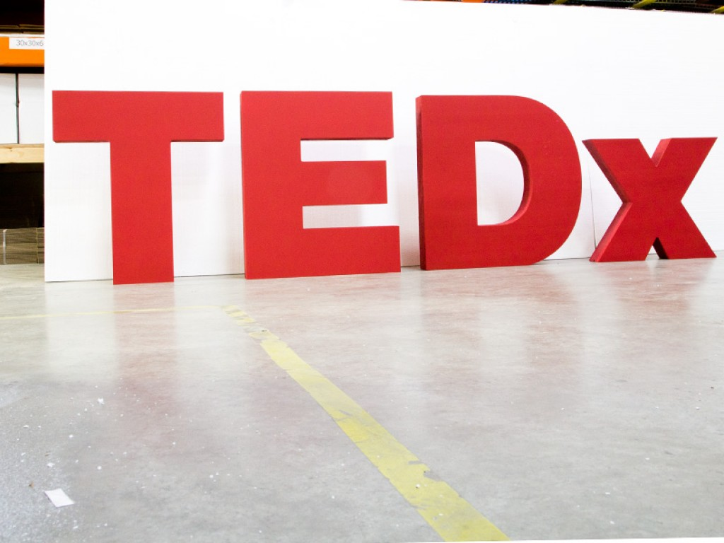 Tedx Letters Large Custom Made Amp Professional Red Paint
