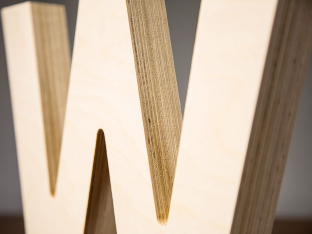 Large Wood Letters Baltic Birch