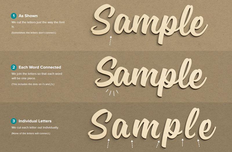 Script Sign Letters - Custom Wood Script | Woodland Manufacturing